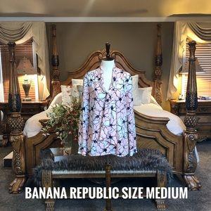 Banana Republic Floral Blouse Size Medium